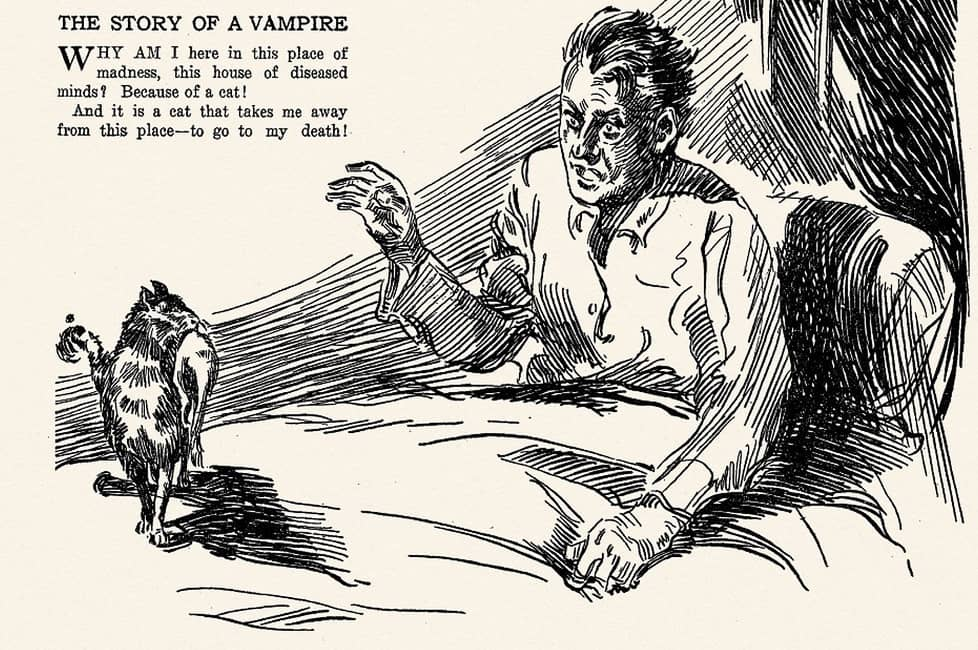Weird Tales May 1923 Story of a Vampire-small