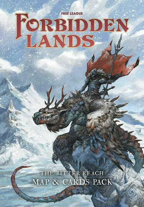 Forbidden Lands The Bitter Reach Map and Cards Pack-small