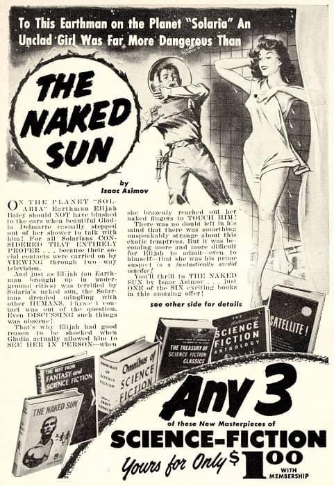 sfbc ad astounding 1957 11 back cover asimov naked sun-small