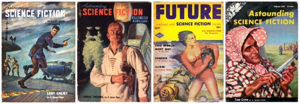 Four covers featuring Piper's Paratime stories